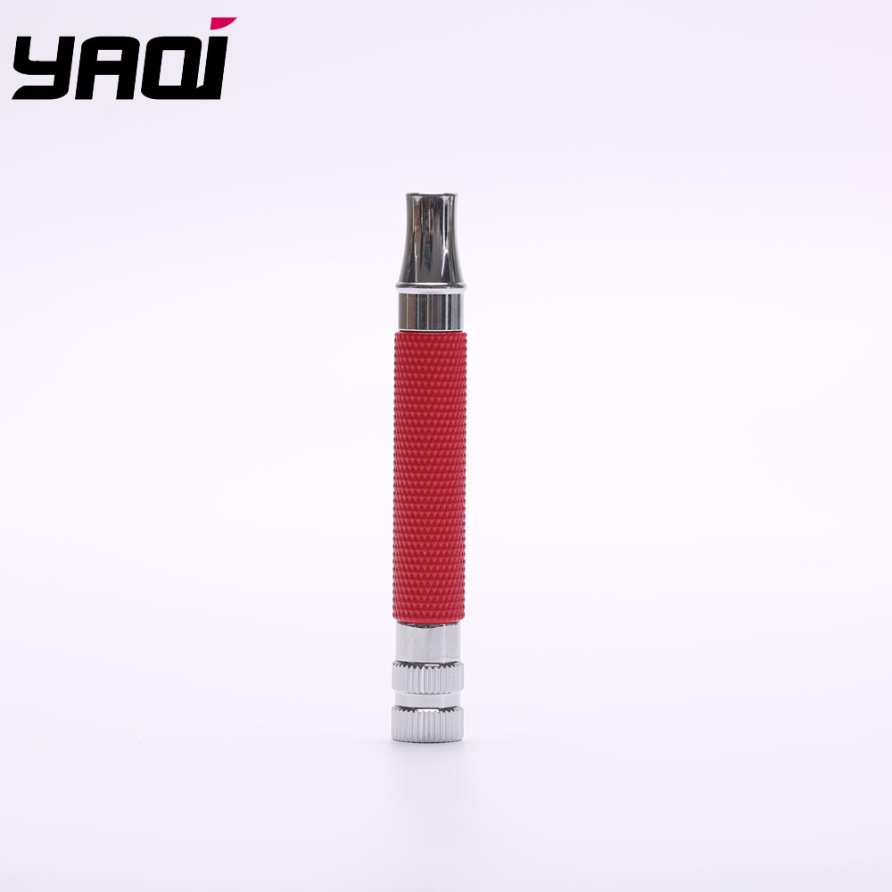 Yaqi Red And Chrome Color Brass Safety Razor Handle