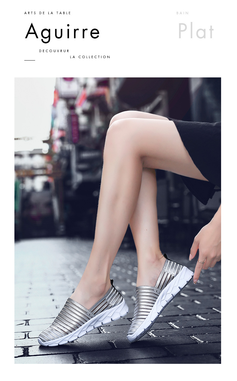 Women Flats Shoes Woman Loafers Slip-ons Platform Ballet Sneakers (24)