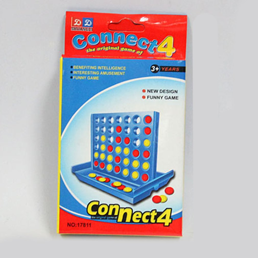 Hot Three-dimensional Four-game Chess Early Education Parent-child Interaction 1 Set Connect 4 In A Line Board Classic Game