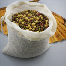 Reusable Empty Tea Bags with Drawstring Cotton Soup Straining Herbs Coffee Brew Gravy Broth Stew