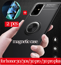 pro stp 30s [2+1]Armor Case For honor 30 30s 30Pro plus ring case huawei Honor30 30 s 30 pro plus magnetic silicone чехол хонор30 30s 30pro