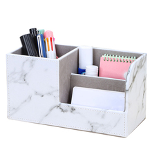 Writing Materials Holder Marble pattern Stationery Holders Multifunctional High capacity Storage Box Office School Supplies