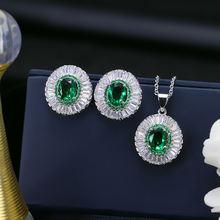 S925 стерлингового серебра aaa циркон серьги для невесты ожерелье
