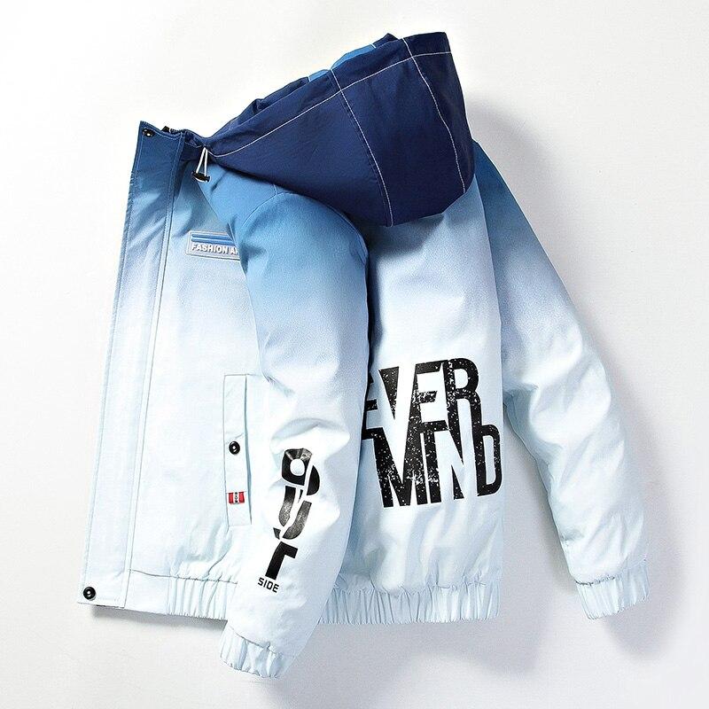 2020 мужская повседневная куртка с буквенным принтом, Мужская ветровка, куртка с капюшоном, мужское пальто, Осеннее Новое двухцветное пальто|Куртки| | АлиЭкспресс