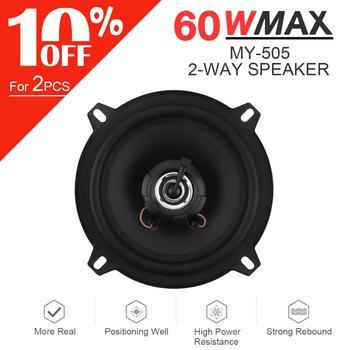 1pcs 5 Inch 130mm 60W 2-Way Car HiFi Coaxial Speaker Vehicle Door Auto Audio Music Stereo Full Range Frequency Speaker For Car hertz uno x 130 2 way coaxial