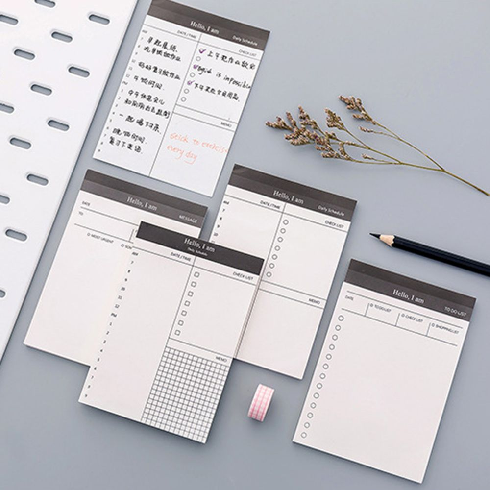 Paper Memo Pad Daily Planner Office Desk Check List Notepad To Do List School Office Supply Stationery