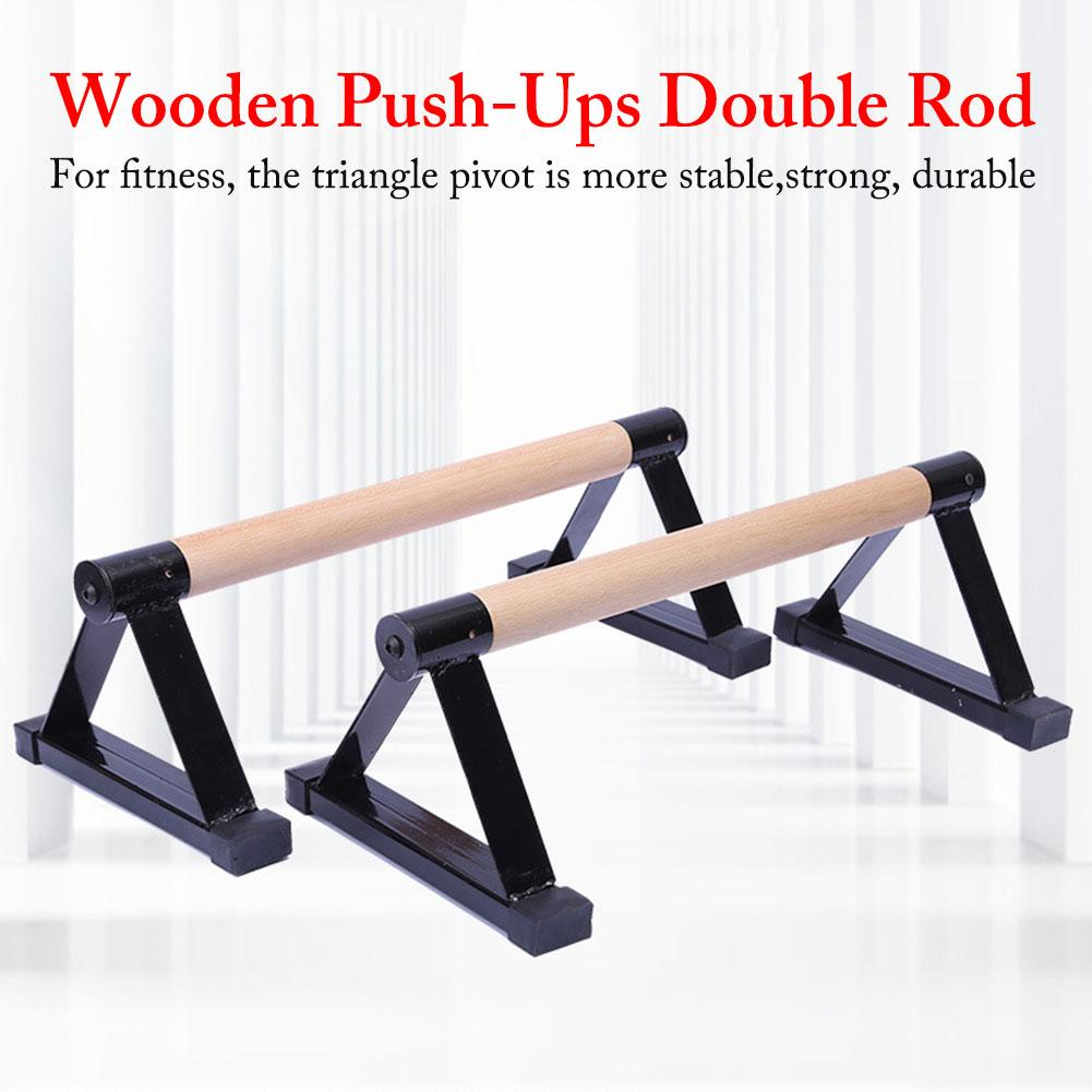 High Quality Wood Parallettes Set Stretch Stand Calisthenics Handstand Fitness Equipment For Men Women