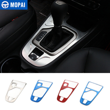 MOPAI Interior Mouldings Car Gear Shift Panel Decoration Cover Stickers for Jeep Cherokee 2014 2018 Accessories