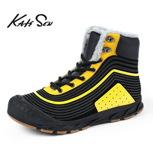 New Winter Men Snow Boots Outdoor Waterproof Sneakers Plush Warmth Hiking Shoes Size 38-47