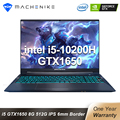 Игровой ноутбук Machenike T58 Core i5 10200H GTX 1650 Latptops 8 ГБ ОЗУ 512 ГБ SSD 15,6 дюйма IPS ультра граница клавиатура с подсветкой