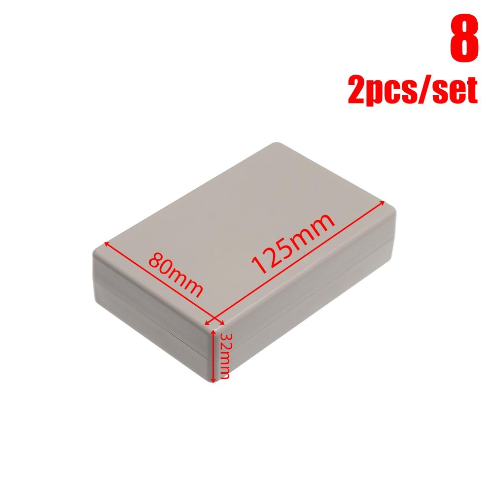 2 шт Водонепроницаемый белый/серый корпус DIY корпус прибора пластиковая коробка для АБС проект коробка ящик для хранения корпус коробки поставки - Цвет: 2pcs Style 8