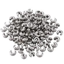 Bandahall 200 قطعة 304 المقاوم للصدأ تجعيد الخرز يغطي للمجوهرات النتائج DIY بها بنفسك صنع الفولاذ المقاوم للصدأ اللون 4.5 مللي متر حفرة: 2 مللي متر