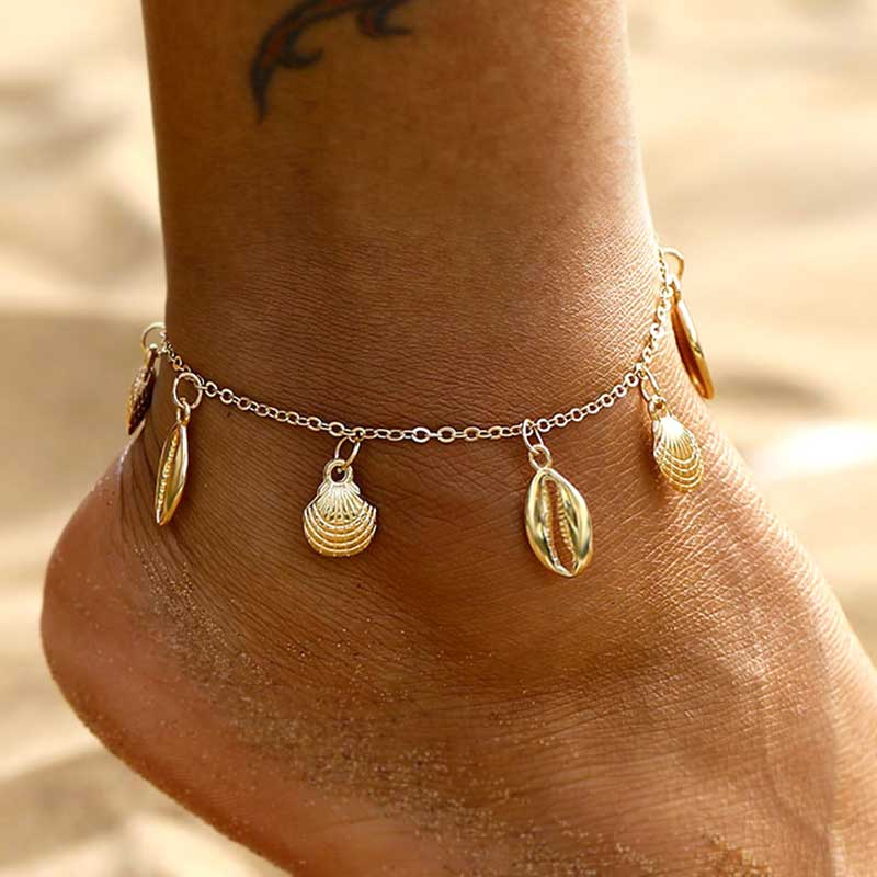 Vienkim New Shell Conch Link Chain Anklets For Women Foot Jewelry Summer Beach Barefoot Bracelet Ankle On Leg For Women 2020