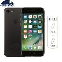 Оригинальный разблокированный мобильный телефон Apple iPhone 7 4G LTE 2G ram 256 GB/128 GB/32 GB rom четырехъядерный 4,7 ''12. 0 MP телефон камеры отпечатков пальцев