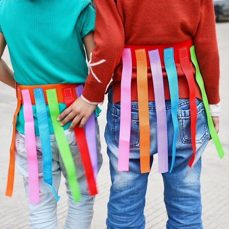 Kids Outdoor Chasing Game Belt Play Get Tail Game Toys Tool Toys For Children Kindergarten Interactive Sport Game Accessories