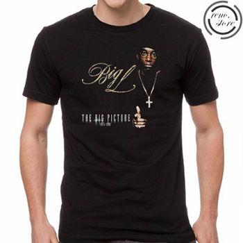 Gran L gran foto álbum Rap Hip Hop hombres negro camiseta tamaño S, M, L, Xl, 2Xl 3Xl