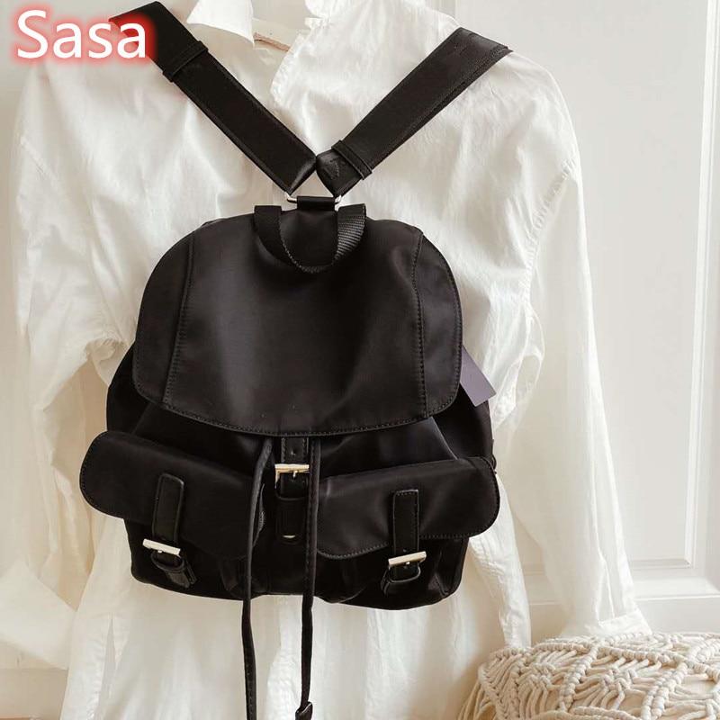 Sasa New Fashion Nylon Bag Womens Bag Outside Womens Crossbody Bags Bucket Bag Lace Up String Bag Women Shoulder Bags