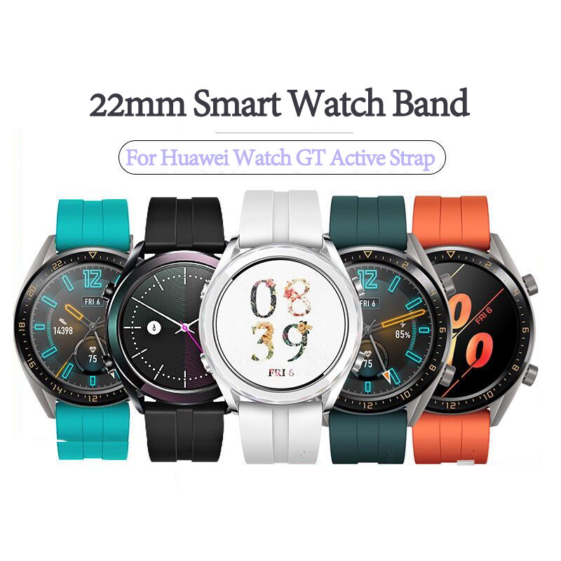 22mm Smart Watch Band For Huawei Watch GT Active Strap Silicone Bands Sports Bracelet For Honor Watch Magic Wrist Straps