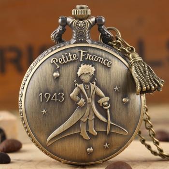 Creative Little Prince Pattern Pocket Watch for Men piccolo principe Quartz Watches Women Necklace reloj de bolsillo homb