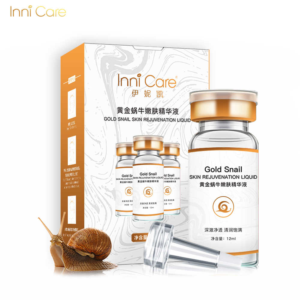 Innicare Lumaca Oro Viso Siero Crema Viso Liquido 24K Oro Essenza Anti Invecchiamento Antirughe Idratante Nutriente Cura Della Pelle di Bellezza