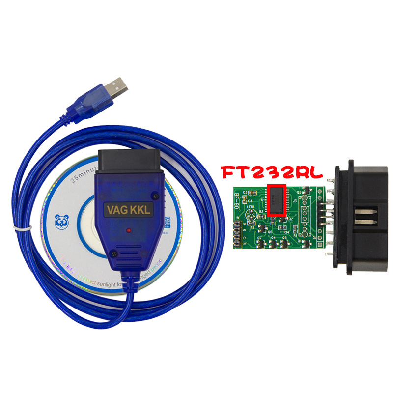 FT232RL VAG-COM 409.1 Vag Com Vag 409 Kkl OBD2 USB Diagnostic Cable Scanner Scan Tool Interface For  Audi Seat Volkswagen Skoda