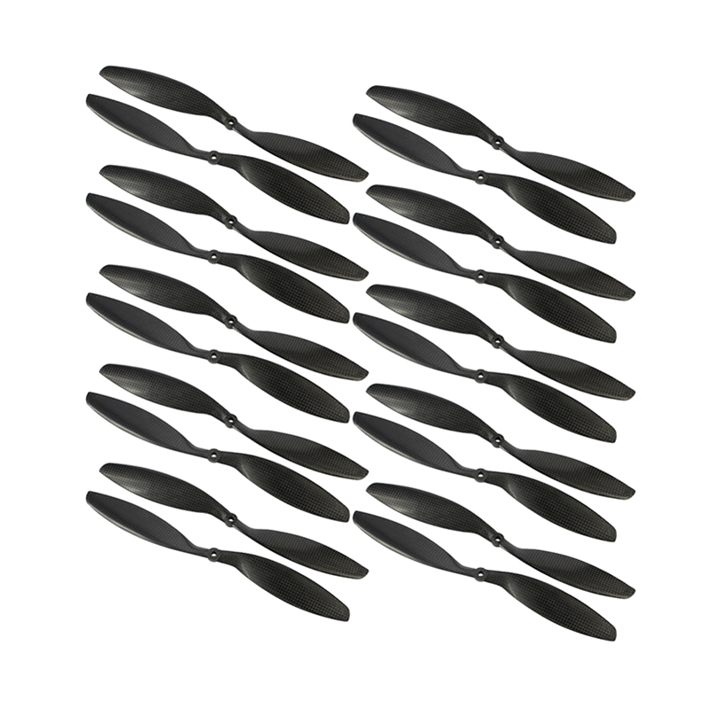 10Pairs 3k Carbon Fiber CW CCW Propellers 8x4.5 9x4.7 <font><b>10x4.5</b></font> 10x4.7 11x4.7 12x3.8 12x4.5 14x4.7 CF for Racing Drone FPV Racer image