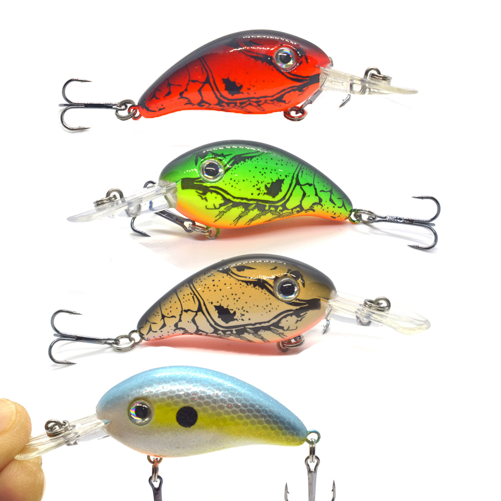 43mm 5.3g Crappie Crankbaits Shallow Diving Square Bill Crankbaits Artificial Hard Bait For Bass Fishing Wobbler Minnow Lures