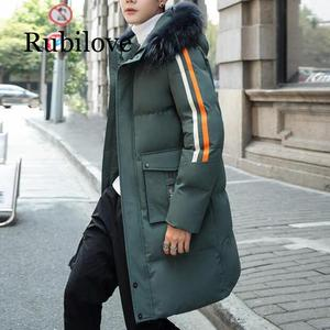 Image 2 - Cotton padded Clothes Mens Mid length 2019 Winter New Style down Jacket Cotton padded Clothes Brushed And Thick Coat Students