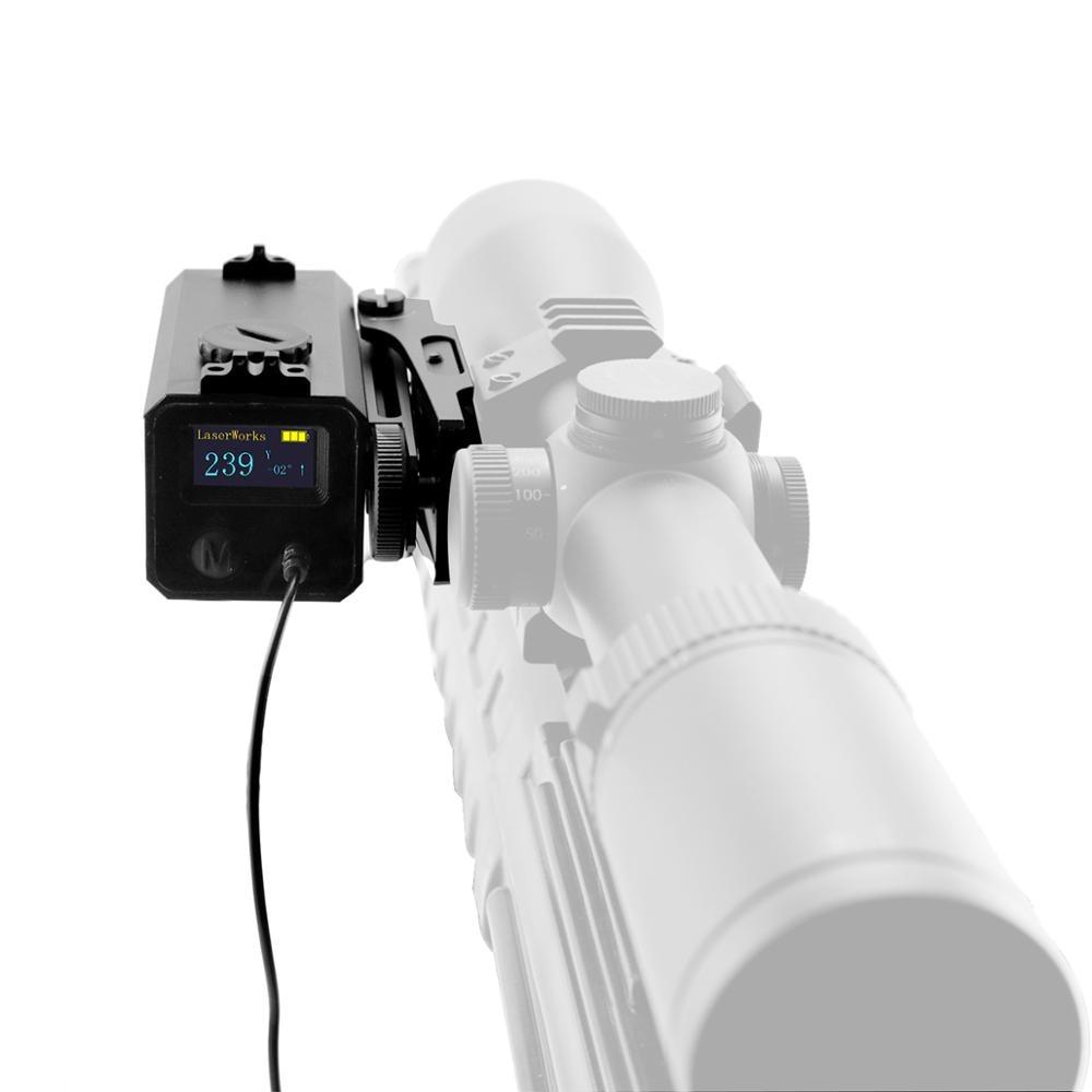 LaserWorks LE032 Laser Rangefinder 700 Meter Snipe Riflescope Mate With Bracket Windage Elevation Adjustable