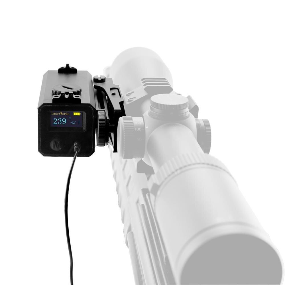 LaserWorks LE032 dalmierz laserowy 700 metr Snipe luneta Mate z uchwytem regulacja wysokości wiatru