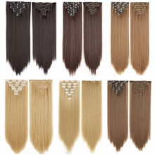 Synthetic Clip in Hair Extensions 7Pcs/Set 22