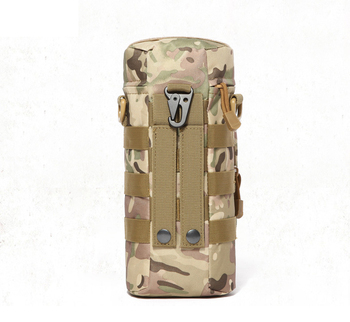 Military Kettle Bag for Molle Tactical Backpack Army Water Bottle Bag Pouch Outdoor Hunting Hiking Waist Kettle Pouch Waist Bag 5