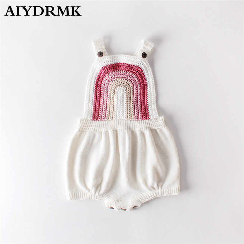 Knitted Baby Clothes Rainbow Baby Girl Romper Sleeveless Newborn Baby Romper Baby Jumpsuit Boy Romper Cotton Baby Girl Clothes
