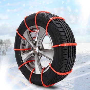 1PC samochodów stylizacji koła opony łańcuchy śnieżne dla opon zimowe łańcuchy śniegowe dla samochodów opony błotne zimowe bezpieczeństwo jazdy tanie i dobre opinie Liplasting CN (pochodzenie) 22 5cm nylon Łańcuchy śniegowe 0 05kg 13cm Dropshipping