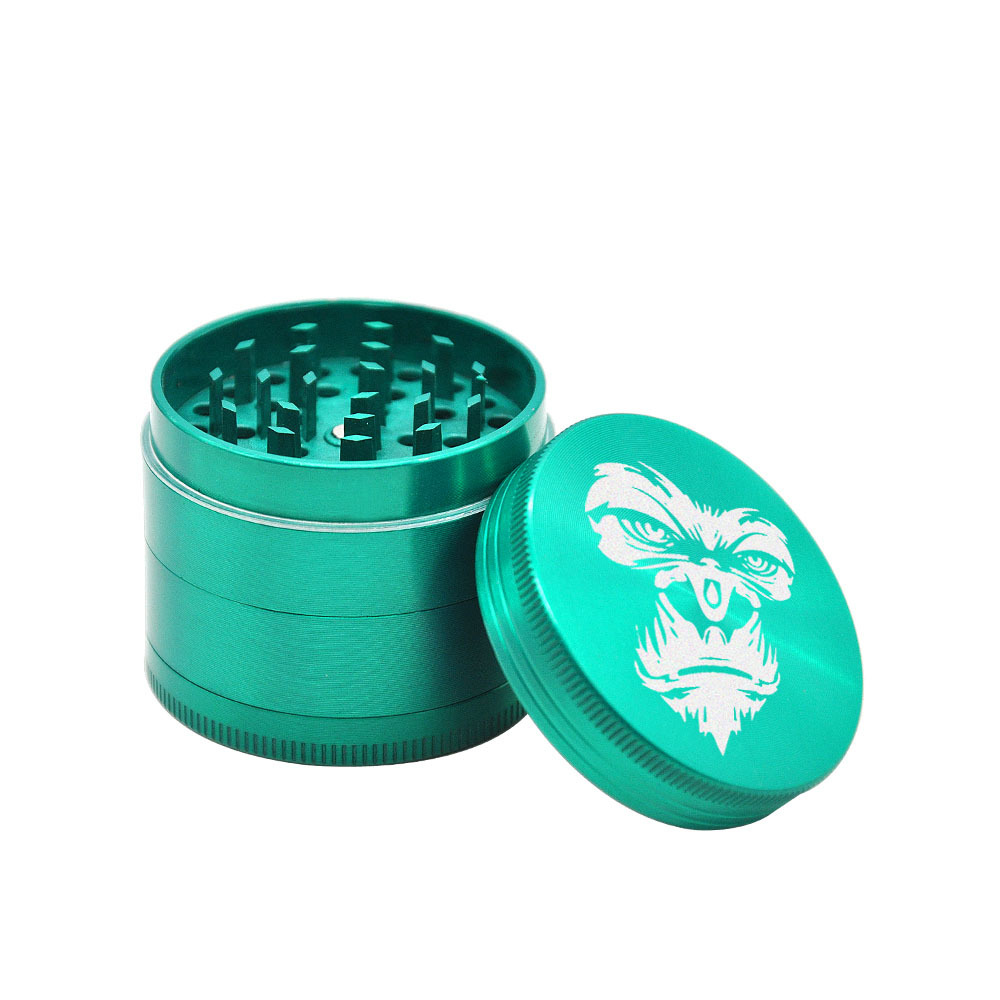KING KONG Herb Grinder 4 Layers 50 MM Zinc Alloy With Sharp Diamond Teeth Tobacco Metal Herb Crusher Spice Mill Muller 6