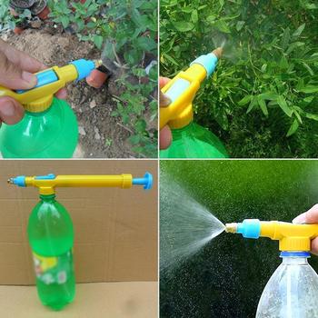 1pc wózek pistolet Mini butelki na wodę plastikowy rozpylacz głowy rozpylanie pestycydów głowy ogród Bonsai opryskiwacz ciśnieniowy narzędzia rolnicze tanie i dobre opinie Liplasting Pompy Z tworzywa sztucznego 1Xsprayer1Xpipe1Xrubber ring Trolley Gun Sprayer Head Yellow Blue Pump 31cm 28 x 3 x 4cm