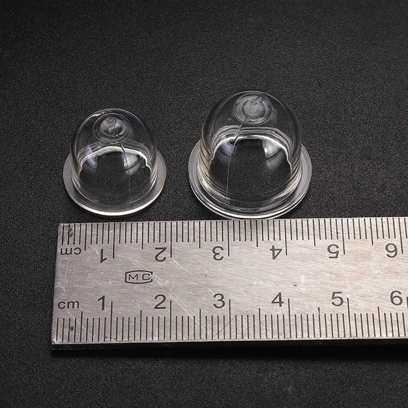 2 Stuks 19-22 Mm Wit Transparant Brandstofpomp Lamp Carburateur Olie Bubble Primer Lamp Kettingzagen Trimmer Bosmaaier clear Tool