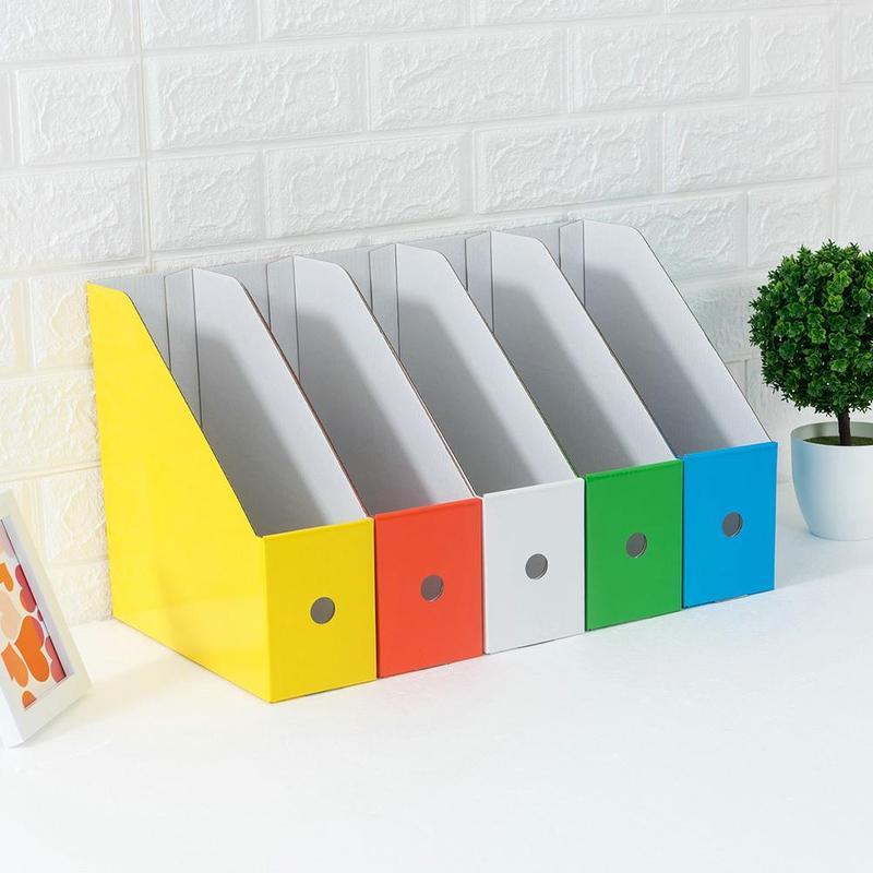 Paper 5 Color File Holder Diy Paper Desktop Storage Box Desk Control Box Sundries Finishing Storage Stationery Remote S5L8