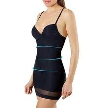 TOPMELON femmes sous vêtements amincissants contrôle glisse Sexy Push Up robe corps Shaper Shapewear Spaghetti sangle taille formateur Lingerie
