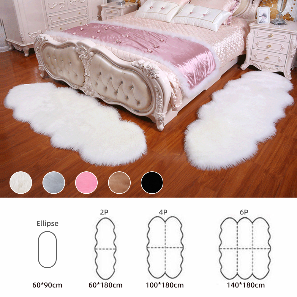 Warm Carpets Floor Mat Pad Skin Fur Rugs Soft Faux Sheepskin Carpet Rugs For Home Living Room Bedroom Floor Mats Faux Fur Carpet