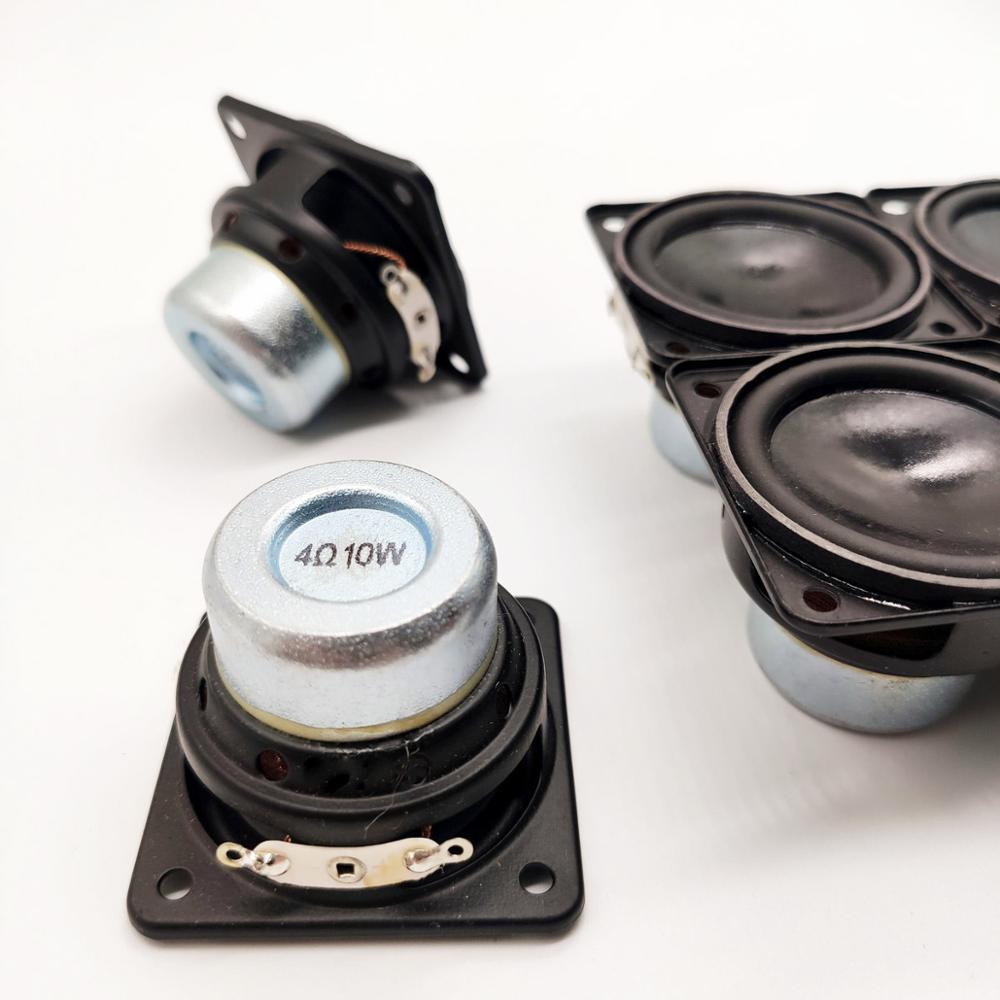 2pcs/lot 45mm 4Ohm 10w Rubber Edge Speakers Neodymium Magnetic Full Frequency  Waterproof Speaker
