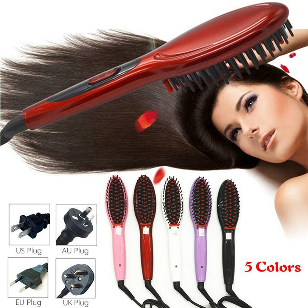 Straight Hair Artifact Straight Hair Comb Does Not Hurt Hair Ceramic Electric Plywood Straight Hair Hair Comb