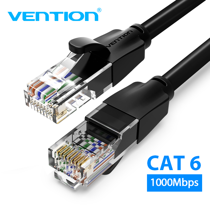 Vention Cat6 Ethernet Cable Rj45 Lan Cable CAT 6 Network Patch Cable For Laptop Router PC 0.5m 1m 2m 3m 5m RJ45 Ethernet Cable