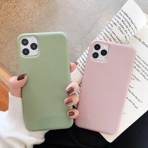 Image 5 - Cho iPhone 11 12 Pro Max 6 6S 7 8 Plus X Xs Max Bao Da Sang Trọng Ban Đầu Mềm Mại ốp Lưng TPU Không Logo Lớp Vỏ Lắp Trường Hợp