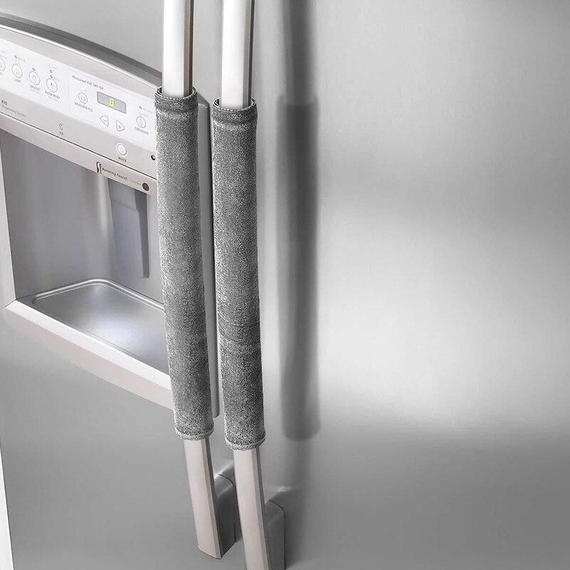 Крышка для дверной ручки холодильника, кухонные приборы, декоративная ручка для холодильника С нескользящими защитными перчатками, защита ...