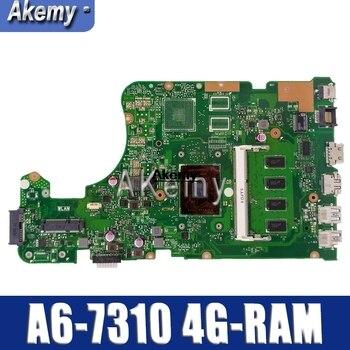 X555DG Laptop motherboard for ASUS X555YA X555YI original mainboard 4G-RAM A6-7310