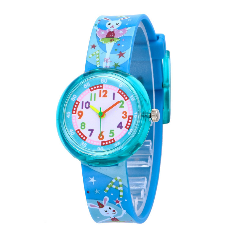 KDM Cartoon Children Watch Silicone Strap Quartz Kids Watches Child Wrist Watches For Boys Girl Students Sports Waterproof Clock