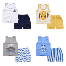 Girl Clothing Outfits Shorts Kids Boys Children Summer Suits Tops Sleeveless 1-2-3-4-5-Years
