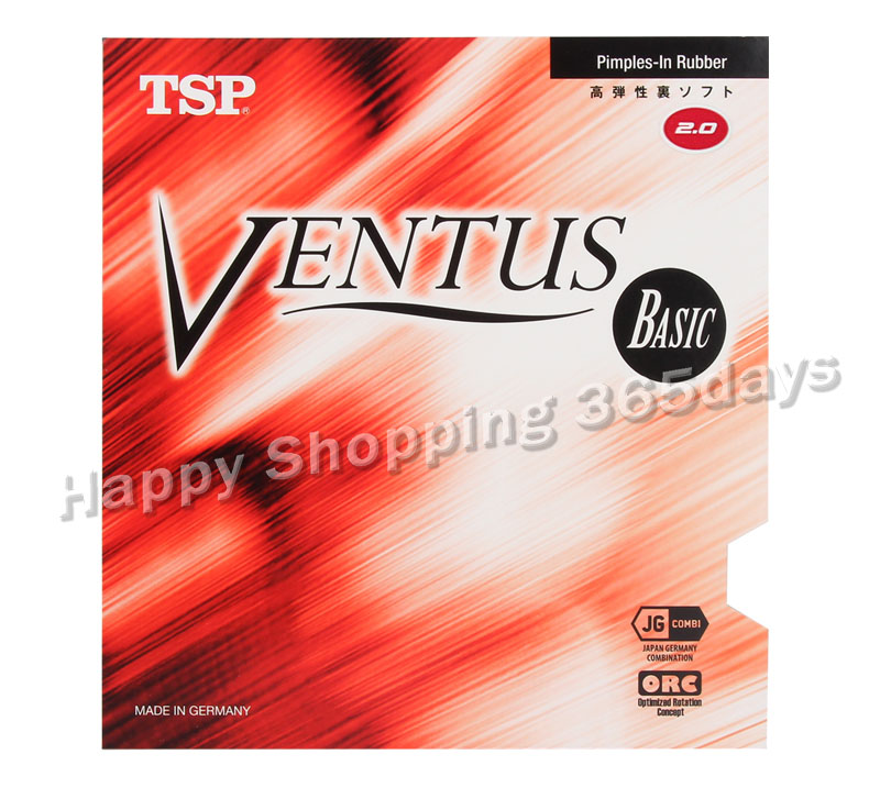 TSP Ventus Basic Table Tennis Rubber (Allround / Control / Made In Germany) Pips-in TSP Ping Pong Sponge