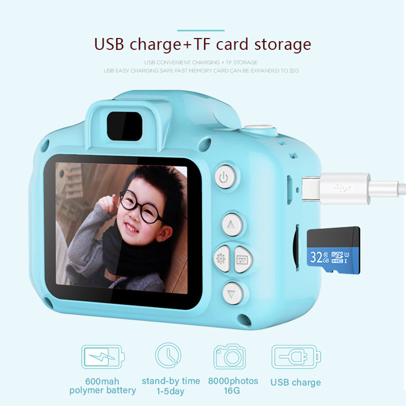 Children's Camera Digital 1080P Screen Camera Video Toy 8/13 Million Pixels Kids Educational Toys Camera Photography Baby Gifts